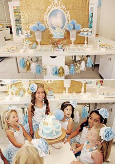 Cinderella's Modern Bibbity Bobbity Boutique {Princess Party} // Hostess with the Mostess® Cinderella Theme, Cinderella Birthday, Princess Birthday, Birthday Crowns, Cinderella Party Favors, Cinderella Party Decorations, Cinderella Princess, Birthday Cake, 7th Birthday