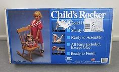 New Child's Rocker Wooden Rocking Chair Kit Whittier Wood Products Sealed Usa
