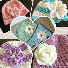 sunshine and a sewing basket: Layla-Lu beanie Crochet Baby Cap, Crochet Preemie Hats, Crochet Baby Jacket, Easy Crochet Hat, Crochet Baby Hat Patterns, Crochet Beanie Pattern, Baby Hats Knitting, Crochet Baby Shoes, Crochet Baby Clothes