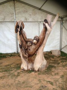 Tree Carving, Wood Carving Art, Wood Carvings, Outdoor Sculpture, Tree Sculpture, Chain Saw Art, Tree Artwork, Unusual Art, Wood Creations