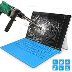 """From 8.40:Moko New Surface Pro 2017 / Surface Pro 4 Screen Protector [scratch Terminator] Premium Hd Clear 9h Hardness Tempered Glass Screen Protector Film For Microsoft Surface Pro 2017 Surface Pro 4 12.3"""""""