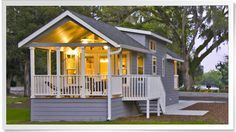 Stick one of these adorable park model homes on your land... Perfect place for parents and in laws.