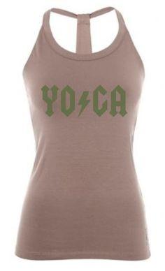 Strijkapplicatie Yoga ACDC Logo | DIY Strijkapplicatie Strijktransfer Textieltransfer | Diverse kleuren en afmetingen