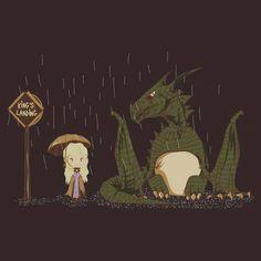 Khaleesi fanart. Very totoro