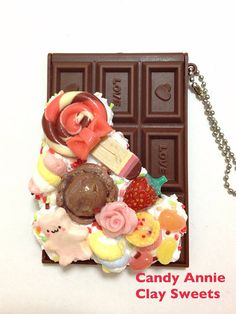 sweets deco chocolate mirror on Etsy, ¥1,739.13