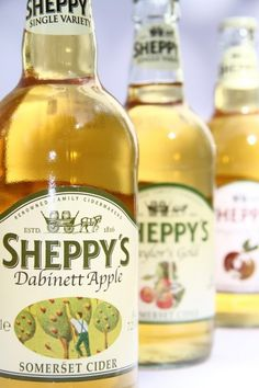 Sheppy's Somerset Cider.  Produced in England.
