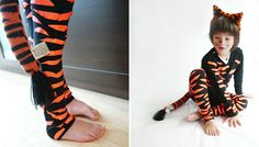 DIY kids Halloween costumes are easy and inexpensive to make with a little bit of tape and scissors. Be creative!