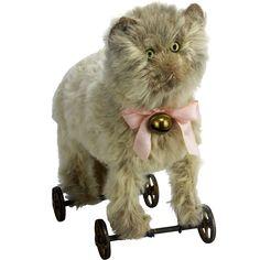 Antique Steiff Cat Pull Toy ca1905