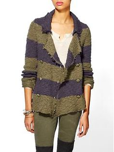 Free People Cotton Slub Sweater Jacket | Piperlime