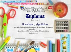 Plantillas editables escolares Certificate Templates, Education, School Leaving Certificate, Preschool Education, Tent, Onderwijs, Learning