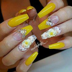 48 mejores imágenes de uñas amarillas  uñas amarillas