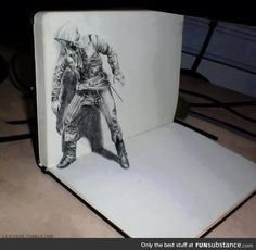This 3D drawing is bad ass >>> shut up and get out of here. That is so fucking cool.