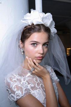 Marchesa, Backstage, Bridal Fall 2016, October 2015  | Bridal Musings Wedding Blog