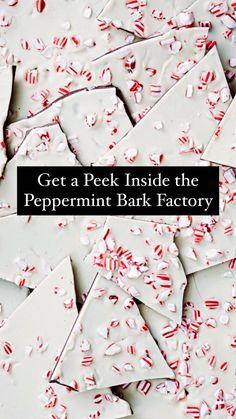 Get a Peek Inside the Peppermint Bark Factory Pepermint Bark, Ps I Love, Holiday Candy, Chocolate Bark, Tis The Season, Seasonal Decor, Cookie Dough, Sweet Recipes, Peppermint