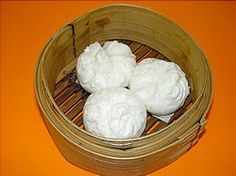 """Vietnamese banh bao / """"bao"""" / """"manapua"""" / """"steamed buns"""" - I'd rather have them baked but....STILL TASTES GOOD TO ME!!!"""
