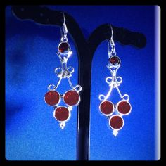 Silver & Red EARRINGS                NWOT ✨Fun, unique & totally YOU!✨ Jewelry Earrings