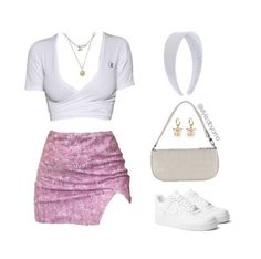 Teen Fashion Outfits, Mode Outfits, Retro Outfits, Look Fashion, Stylish Outfits, Girl Outfits, Baddie Outfits Casual, Cute Comfy Outfits, Polyvore Outfits