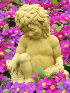 CHERUB Gardening 13 WEATHERED BRONZE Cast Cement Statue Outdoor GARDEN >>> Click on the image for additional details.