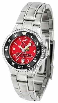 Louisville Cardinals NCAA Womens Steel Anochrome Watch by SunTime. $86.95. Showcase the hottest design in watches today! The functional rotating bezel is color-coordinated to compliment your favorite team logo. The Competitor Steel utilizes an attractive and secure stainless steel band.The AnoChrome dial option increases the visual impact of any watch with a stunning radial reflection similar to that of the underside of a CD. Perceived value is increased with the AnoChr...