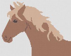 Stickeule: Horse cross stitch chart