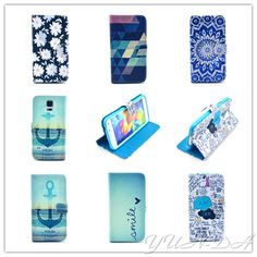 Hot Leather PU Flip Case For Samsung Galaxy S5 mini G800 Fashion Painting Cover Cases With
