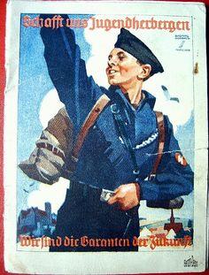 """Propagandaplakat der HJ """"Schafft uns Jugendherbergen."""