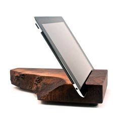 Wood Walnut Handmade iPad Stand from Grant Stands & Co | I Want That |  Pinterest | iPad, Woods and Woodworking