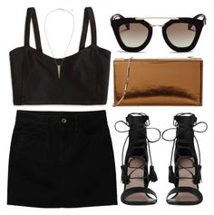 """""""#35"""" by mandyhoran1 ❤ liked on Polyvore featuring Uniqlo, American Eagle Outfitters, Zimmermann, Prada, Jimmy Choo and H&M"""