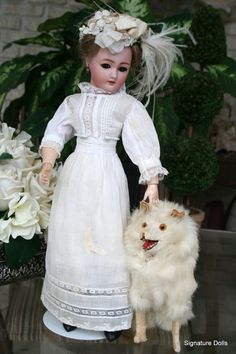 "16"" Simon & Halbig 1159 Gibson Style lady Doll in Victorian Lawn Dress from signaturedolls on Ruby Lane"