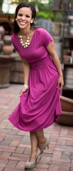 LOVE this - maybe different color. Lillian Dress - Boysenberry This dress is perfect for an occasion!!! Modest dresses with style!!! www.sierrabrooke.com