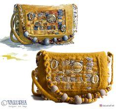 Купить Сумка валяная конфетка «Сокровища Агры» - сумка через плечо, валяная сумочка
