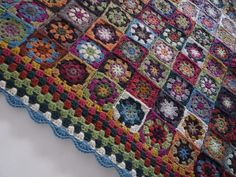 121 grannies Blanket by Facile Cécile!, via Flickr