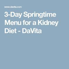 3-Day Springtime Menu for a Kidney Diet - DaVita