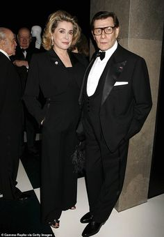 Catherine Deneuve (pictured left with Yves Saint Laurent in became more than a muse to fashion legend YSL after the pair met in 1965 Givenchy, Valentino, Jeanne Moreau, Laetitia Casta, Elsa Peretti, Catherine Deneuve, Carolina Herrera, Emma Watson, Ysl