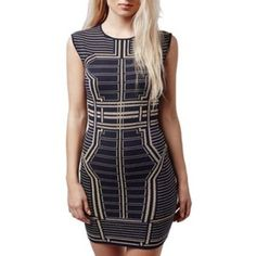 Very Cute Summertime Topshop Bodycon Dress Nwt