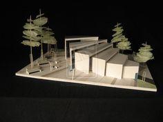 Maquette 03 by Sisomvang Collage Architecture, Maquette Architecture, Landscape Architecture Model, Architecture Model Making, Landscape Model, Architecture Sketchbook, Concept Architecture, Landscape Design, Architecture Design