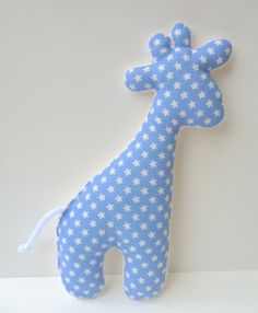 Knister giraffe grabbing toy cuddly toy star by ☆ PatteMouille ☆ on DaWanda … - Stofftiere Giraffe Toy, Fabric Toys, Red Fabric, Knitted Baby Blankets, Sewing Projects For Kids, Baby Leggings, Sewing Toys, Sewing Crafts, Baby Toys