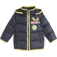 524a1014212 Fendi Baby Boys Navy  Monster  Puffer Jacket