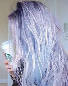 Perfect pastel blue purple hair Starbucks