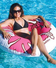 Look at this #zulilyfind! Pink Riviera Ring Float by Swimline #zulilyfinds