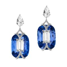 Boghossian diamond and sapphire earrings, price on request
