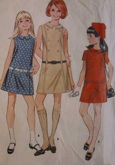Vintage  Girl's Dress Sewing  Pattern 1960s  McCalls 9336