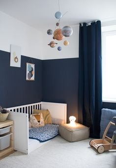 Our new children's room & a hint of Montessori - Baby und Kinderzimmer Inspiration Ideas Habitaciones, Baby Room Decor, Room Baby, Baby Boy Rooms, Baby Boy Nurseries, Kids Bedroom, Boy Toddler Bedroom, Big Boy Bedrooms, Childrens Bedroom