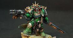 Warhammer 40k Salamanders, Salamanders Space Marines, Warhammer 40k Figures, Warhammer Paint, Warhammer Models, Warhammer 40k Miniatures, Warhammer 40000, Marine Colors, Deathwatch