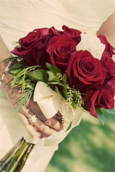 Gorgeous red rose bridal bouquet ideal for all types of wedding