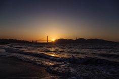 Beautiful capture of the Golden Gate Bridge, San Francisco at sunset. Danny Thomas, Golden Gate Bridge, Documentaries, San Francisco, Sunset, Night, Beach, Water, Outdoor