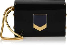 b53640656037 Jimmy Choo LOCKETT MINAUDIERE Black Acrylic Clutch Bag Hobo Purses