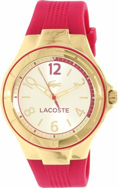 Lacoste Women's Acapo 2000878 Gold Silicone Quartz Watch *** Read more reviews of the product by visiting the link on the image. (This is an Amazon Affiliate link and I receive a commission for the sales)