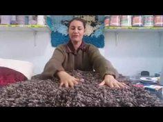 Tapetes decorativos en cordon lycra elaborados a mano - YouTube