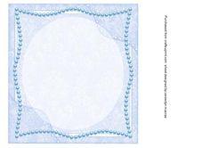 Lovely 8x8 blue Incert  on Craftsuprint - Add To Basket!